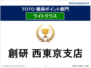 TOTOリモデルクラブ店会セール35回ポイント部門