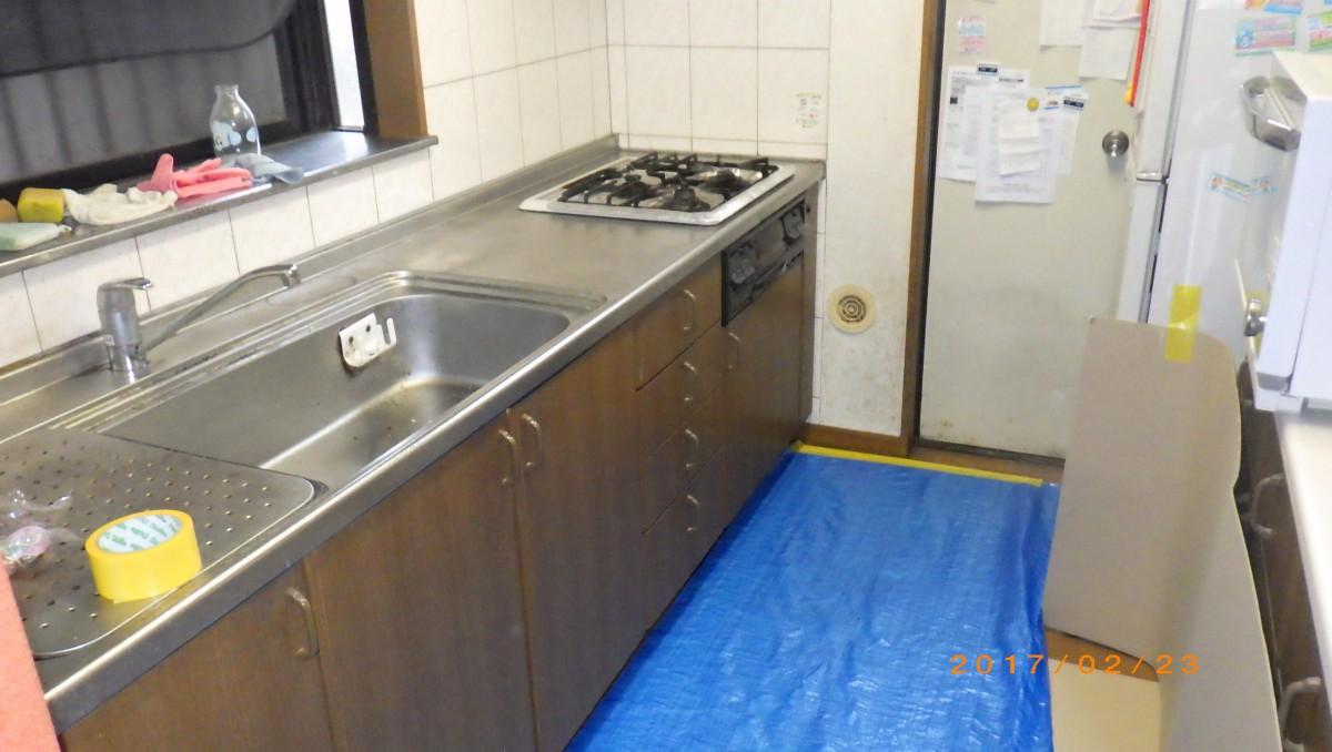 長年愛用してきたキッチンです。